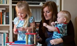 New mum Emma Cantrell