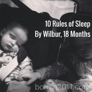 rules of sleep toddler