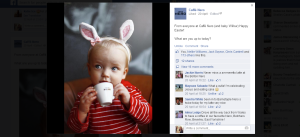 toddler model caffe nero easter bunny