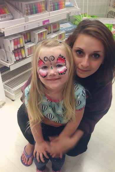 face painting in ikea