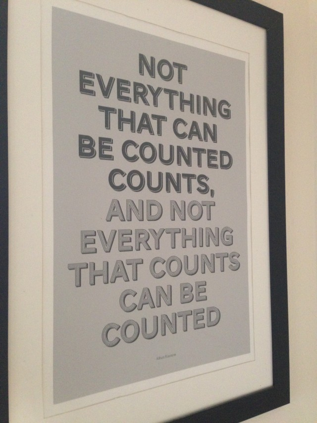 One of my very favourite quotes - at the top of the stairs so I read it every day.
